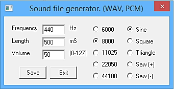 The waveform generator application